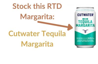 Photo for: Stock this RTD Margarita: Cutwater Tequila Margarita
